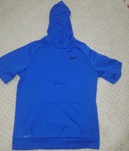 Short sleeve Nike hoodie.